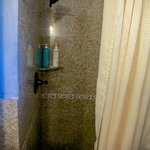 Granite shower stall.