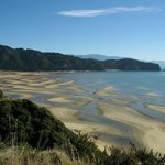 Wainui Bay from the Abel Tasman Track. Similar view from house.