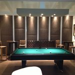New Lounge with bar and pool table