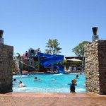 pool side at The Gold Coast Holiday Park - lovely!!