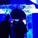 Entrance to the ice bar
