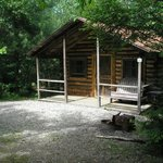 One of our camping cabins