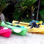 Kayaks and snorkel gear for our guests