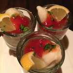 Oyster Shooters...what can I say.....the sea in a shotglass!! YUM