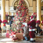 Willard lobby on Christmas day