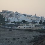 Looking towards Fira at sunset from the front of the resort.