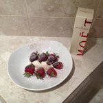 $8 for Choc dipped strawberries with cream was still yummy though