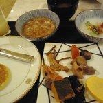 ブッフェでとってきた和食