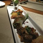 A selection of starter dishes. the chef will create things just for you
