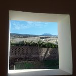 View from back stairs of Teide and banana plantations