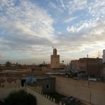View from terrace towards the Atlas Mountains