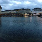 Lucerne bridge, 5 minutes walk from the hotel