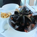 Wonderfully fresh mussels and clams.