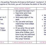 car parking price list