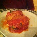 tortellini gigantes rellenos de requesón y espinacas