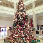 XMas Tree in the Atrium / Hotel Lobby