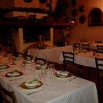 Sala pronta per la cena di S.Silvestro