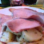 Roast veal with potatoes