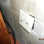 broken wall socket for tv arial