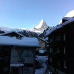 Matterhorn view from our room (9am)