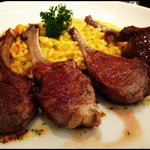 Rack of lamb with pumpkin risotto