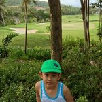 at golf course