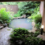 One of the outdoor private onsen