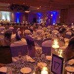 Banquet Room Set-Up for Wedding
