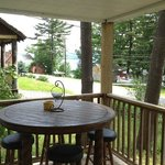 Our front Porch with view of the lake..