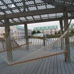 Hammock on the dock - we also got a massage here. Peaceful.