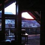 vue du balcon du salon le matin