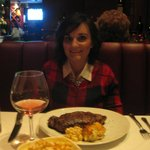 My beautiful wife , with the New York Strip