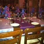 beautifully decorated table waiting to be used
