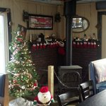 Cozy Christmas decorations at the Brookfield location