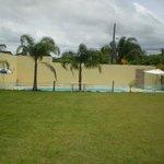 campo e piscina externa