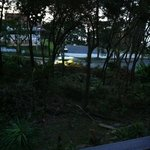 vista dal balcone del bungalow