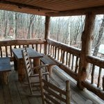 Rear Porch Skyy's Cabin