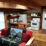 Interior Skyy's Cabin Kitchen