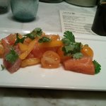 uchiviche (salmon, striped bass, tomato, bell pepper, garlic, cilantro)
