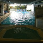Pool with 2 Hot Tubes Plus and exercise room