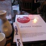 Menu with hot sake