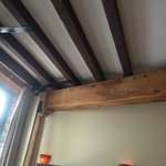 the great posts and beams in our room