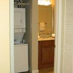 Guest bathroom/laundry closet