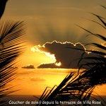 Cocher de soleil depuis la terrasse de Villa Rose Caraïbes