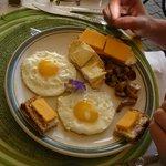petit dejeuné préparé