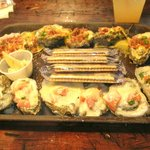 One dozen baked oysters--fantastic!