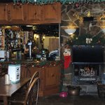 Bar Area and Log Fire