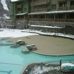 Pool area and Mt Mansfield