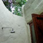 outdoor shower at room 5.  no view but special all the same.  there was also a second indoor sho