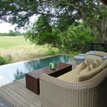 View of our private pool and outside lounge area